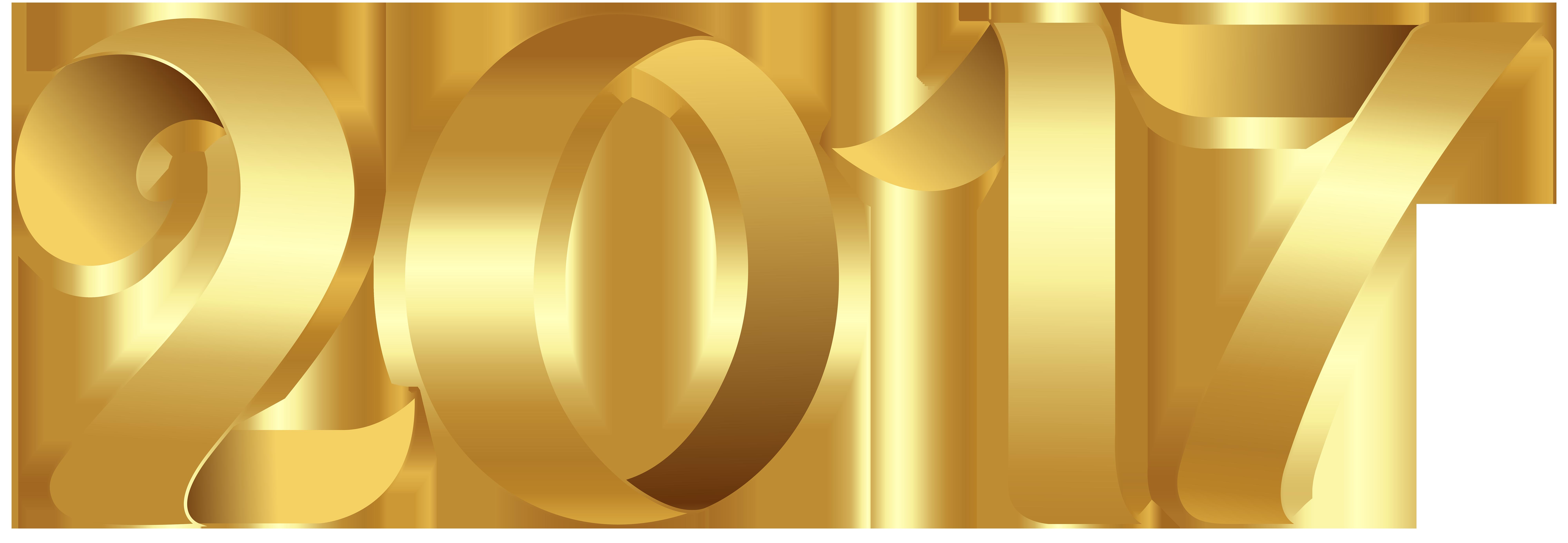 Gold 2017 Transparent PNG Clip Art Image.