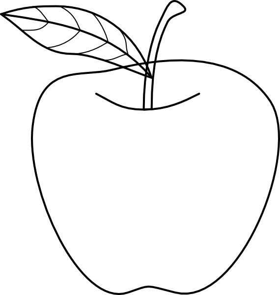 Apple Clipart Black And White.