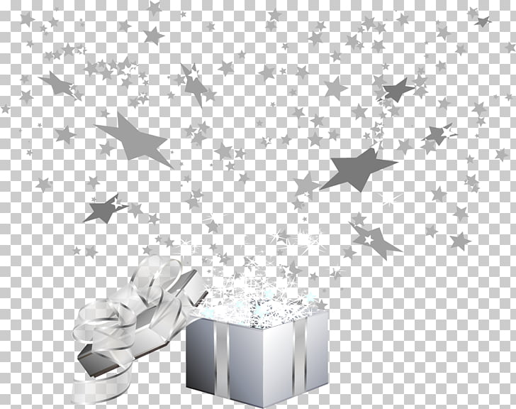 White Pattern, 2017 European silver gift box PNG clipart.