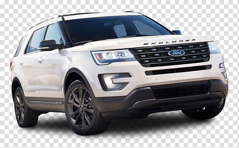 White Ford Explorer, 2017 Ford Explorer XLT Sport utility.