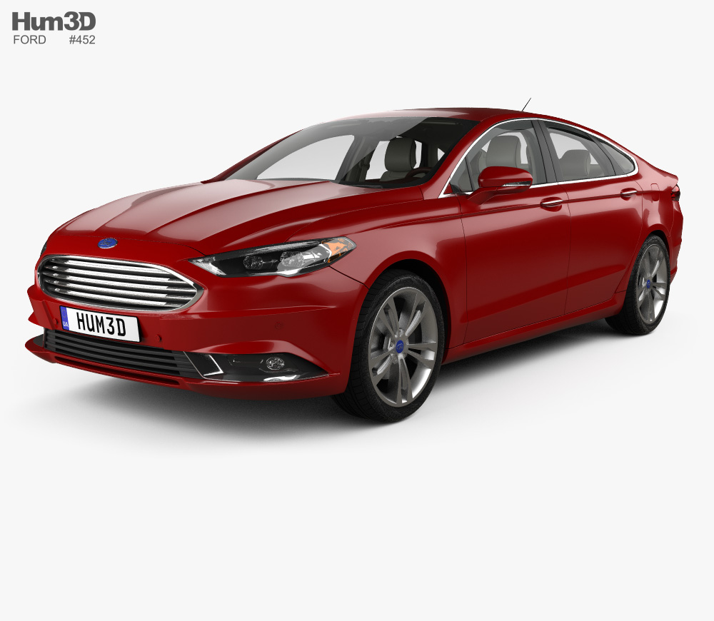 Ford Fusion Titanium with HQ interior 2017 3D model.
