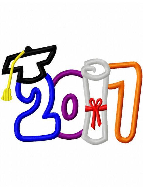 Graduation 2017 Clipart.