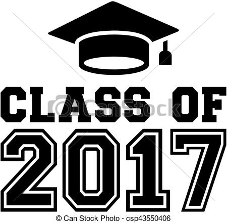 Class of 2017 with graduation hat.