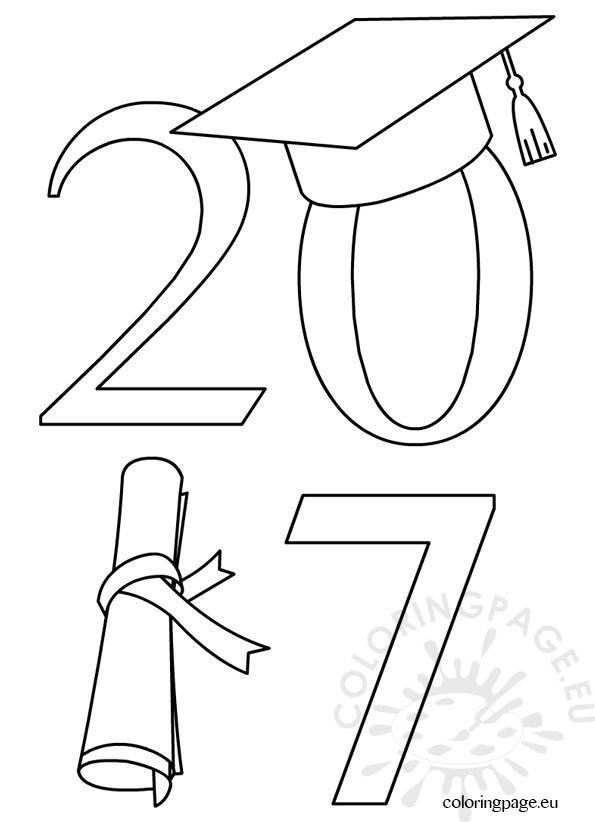 2017 Graduate Clip Art.