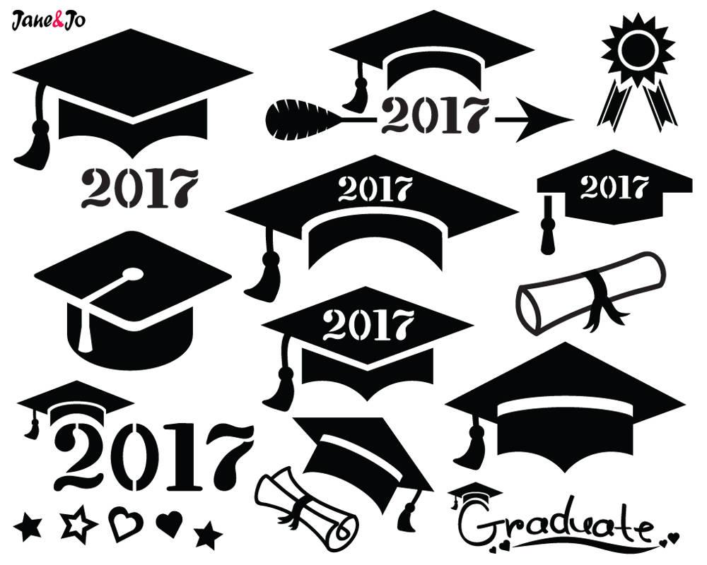 2017 graduation cap clipart 7 » Clipart Station.