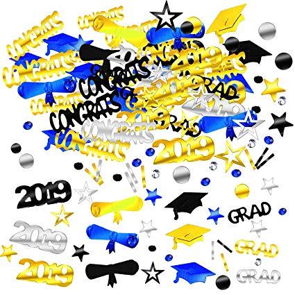 Zhanmai 4000 Pieces 2019 Graduation Confetti Grad Decoration Party Supply  for Grad Party Graduation Celebration.
