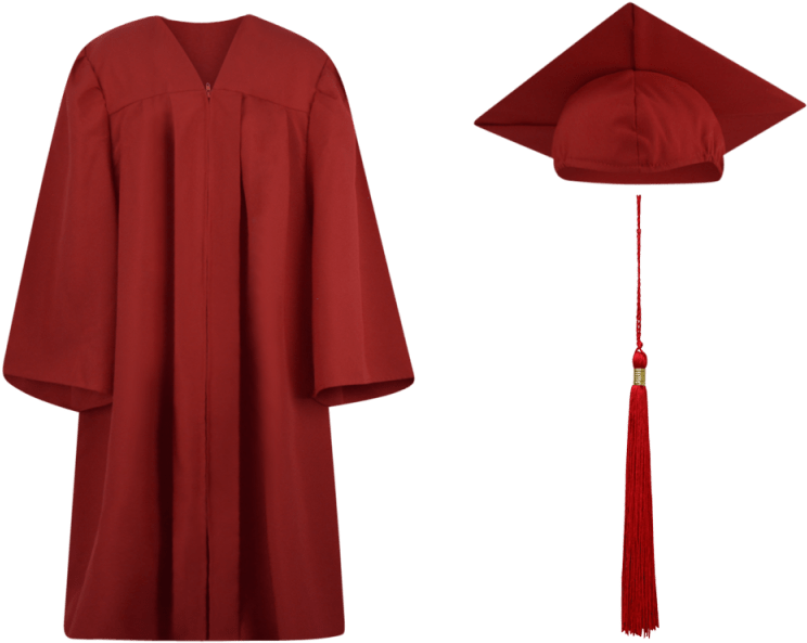 Graduation Cap And Gown Tassel.