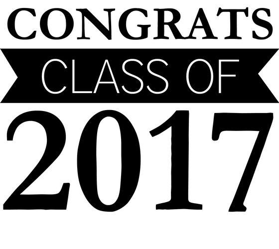 Congrats 2017 Graduation Clip Art.