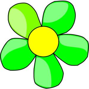 Free clipart image of a flower clipart.