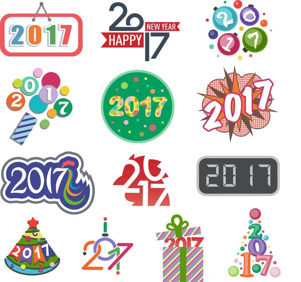 2017 logos design vector set free download.