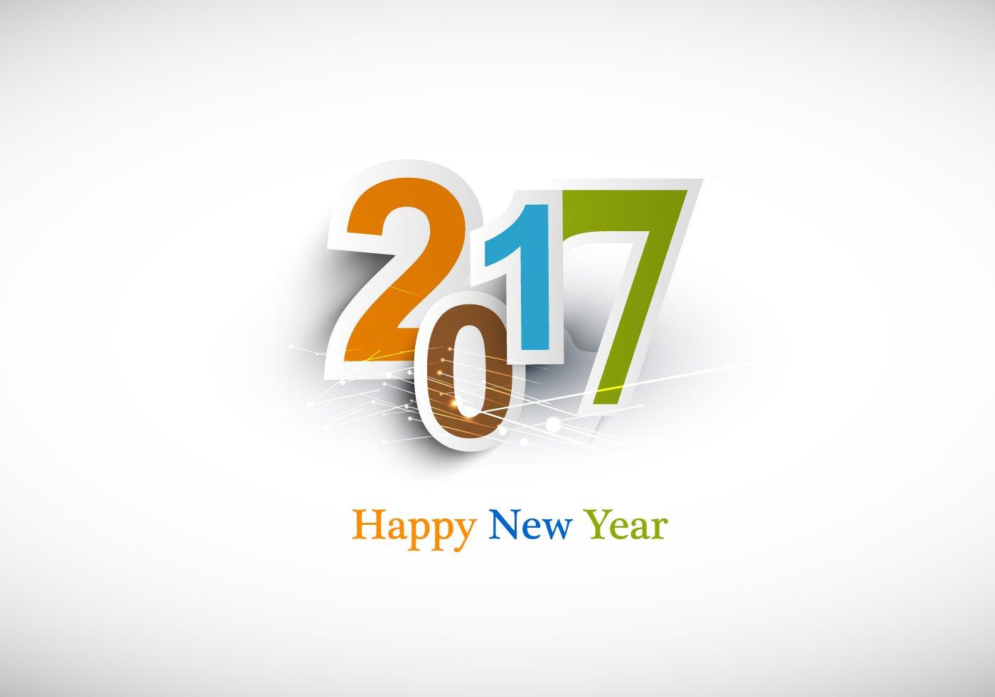 Happy new year 2017 Logos.