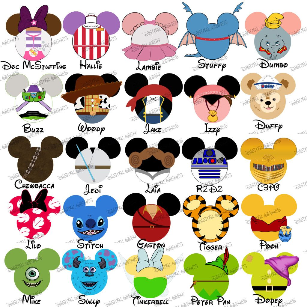 CHOOSE YOUR MOUSE HEAD CHARACTERS Disney Family Vacation.