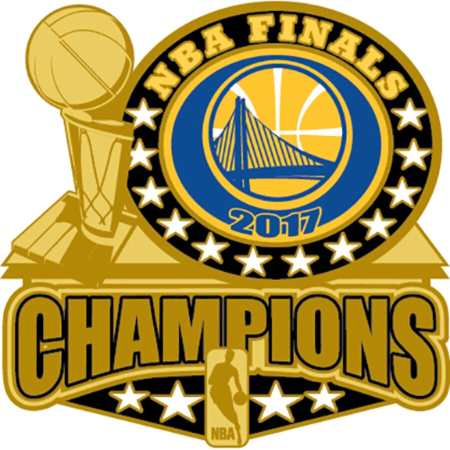 Golden State Warriors 2017 NBA Finals Champions Trophy Pin.