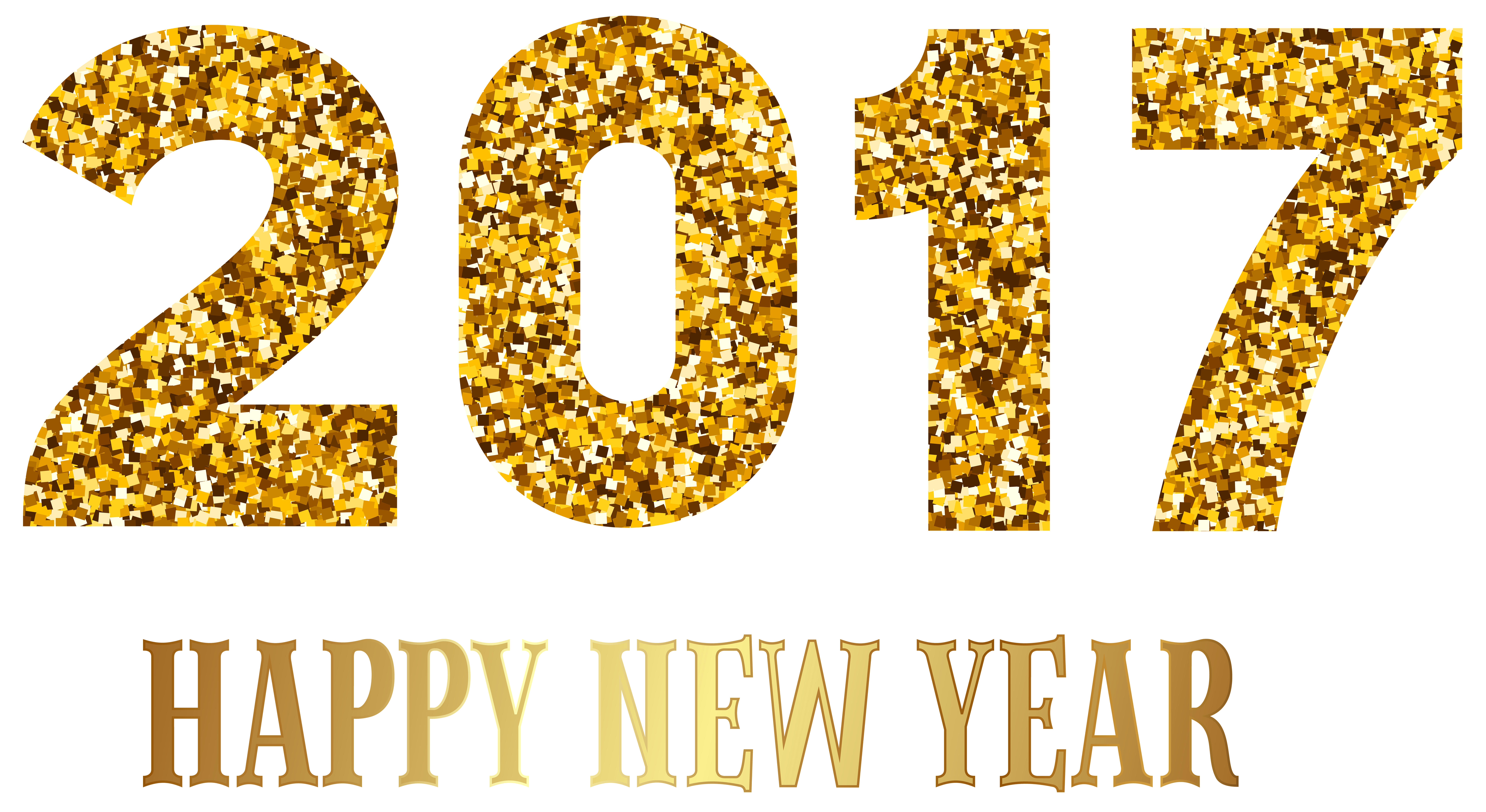 2017 happy new year transparent png image
