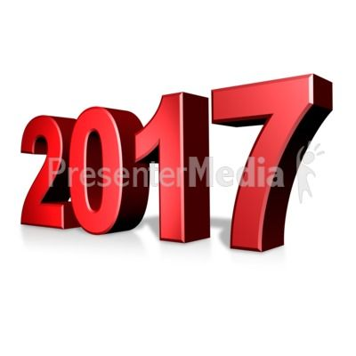 This custom clip art shows the year 2017 which can be.
