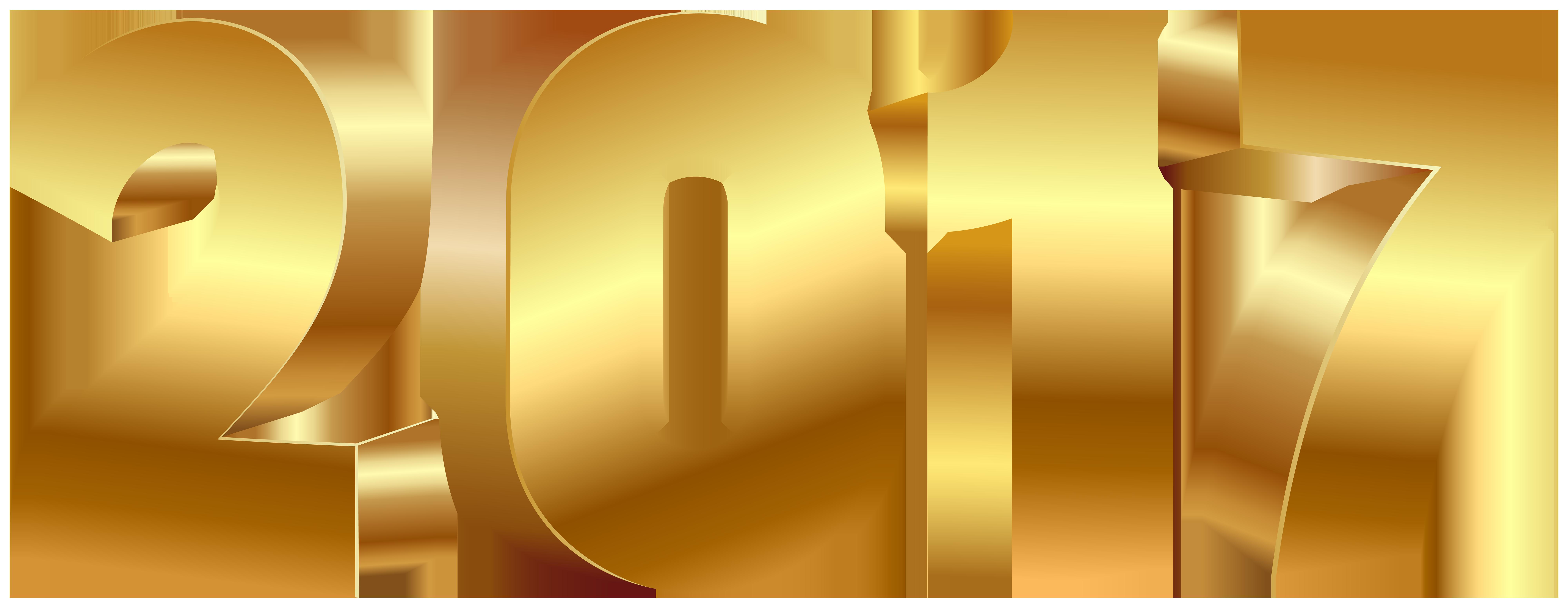 2017 Gold Large PNG Transparent Image Klipart.