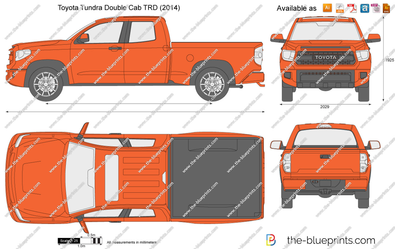 Toyota Tundra Double Cab TRD vector drawing.