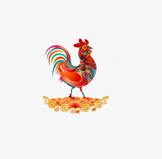 2017 Year Of The Rooster Rooster Material, Rooster Clipart.