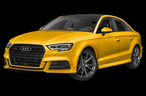Yellow Audi PNG Transparent Image.