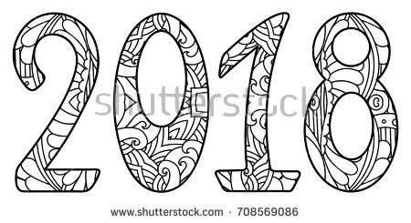 2018 Clipart Black And White.
