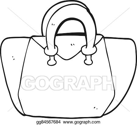 Purse Clipart Black And White.