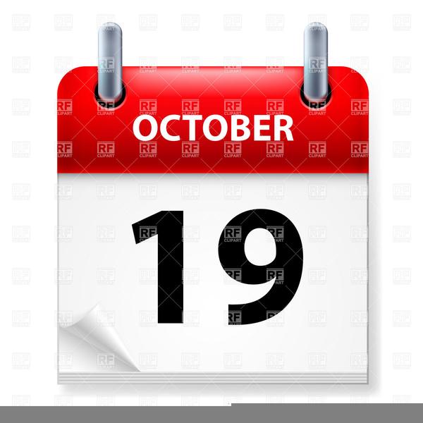 October Calendar Clipart Free.