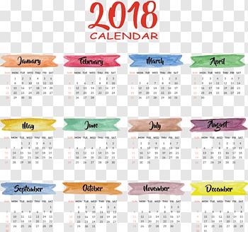 2018 Desk Calendar cutout PNG & clipart images.