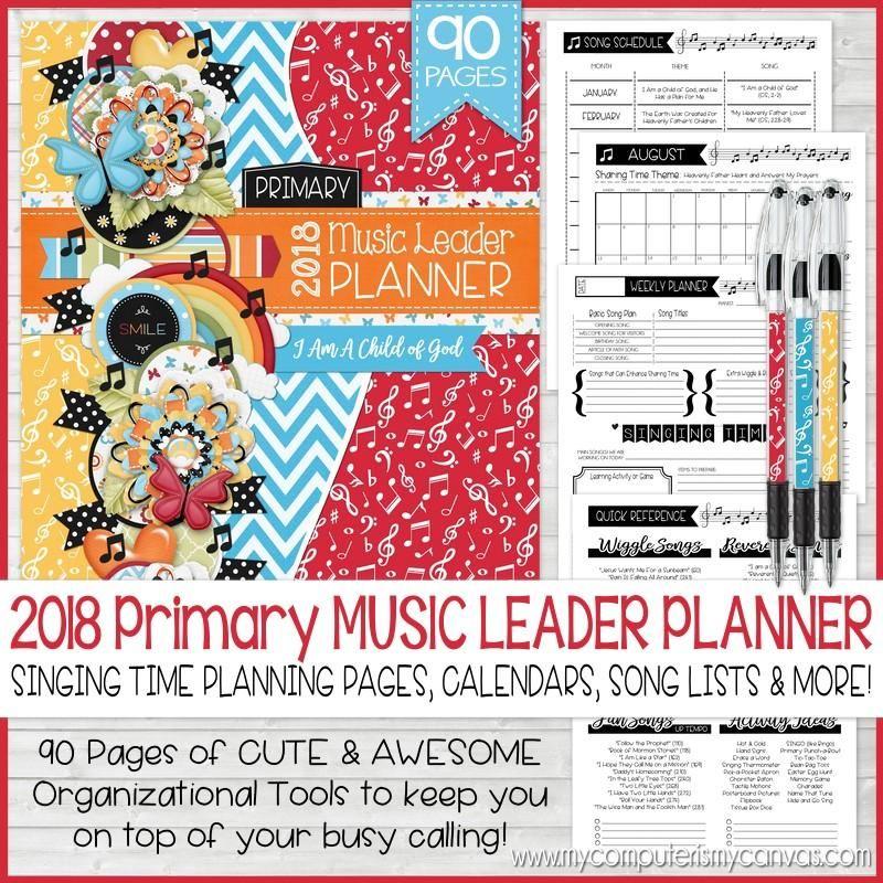 2018 Primary Music Leader Planner PRINTABLE.