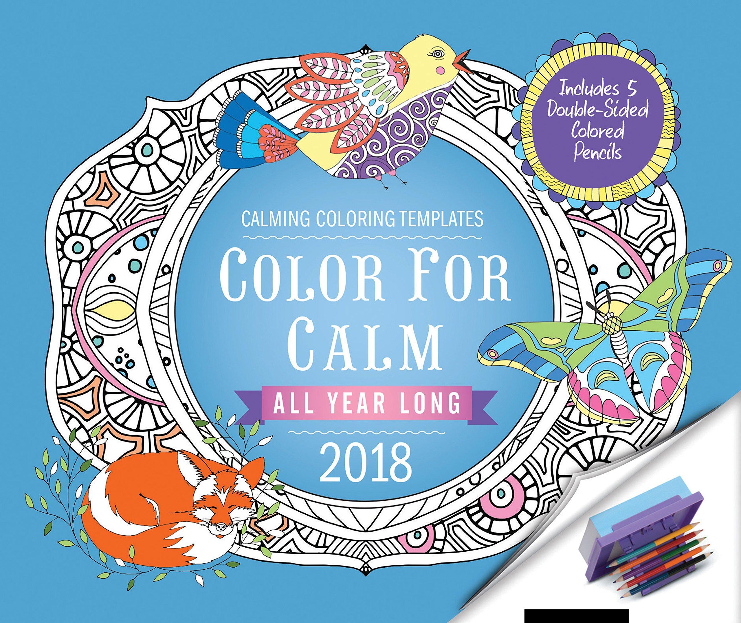 Amazon.com: Color for Calm All Year Long 2018: Box Calendar.