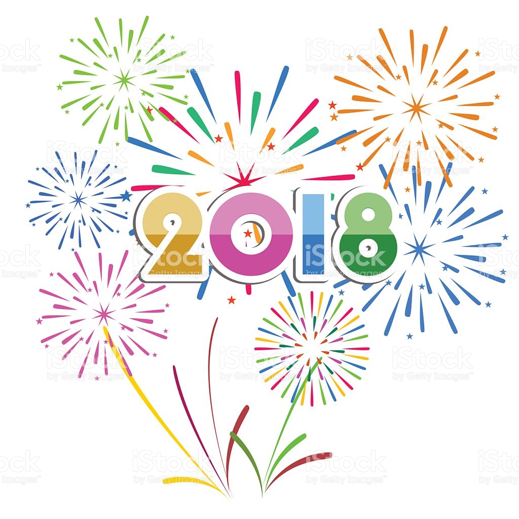 Happy New Year Fireworks Clipart.
