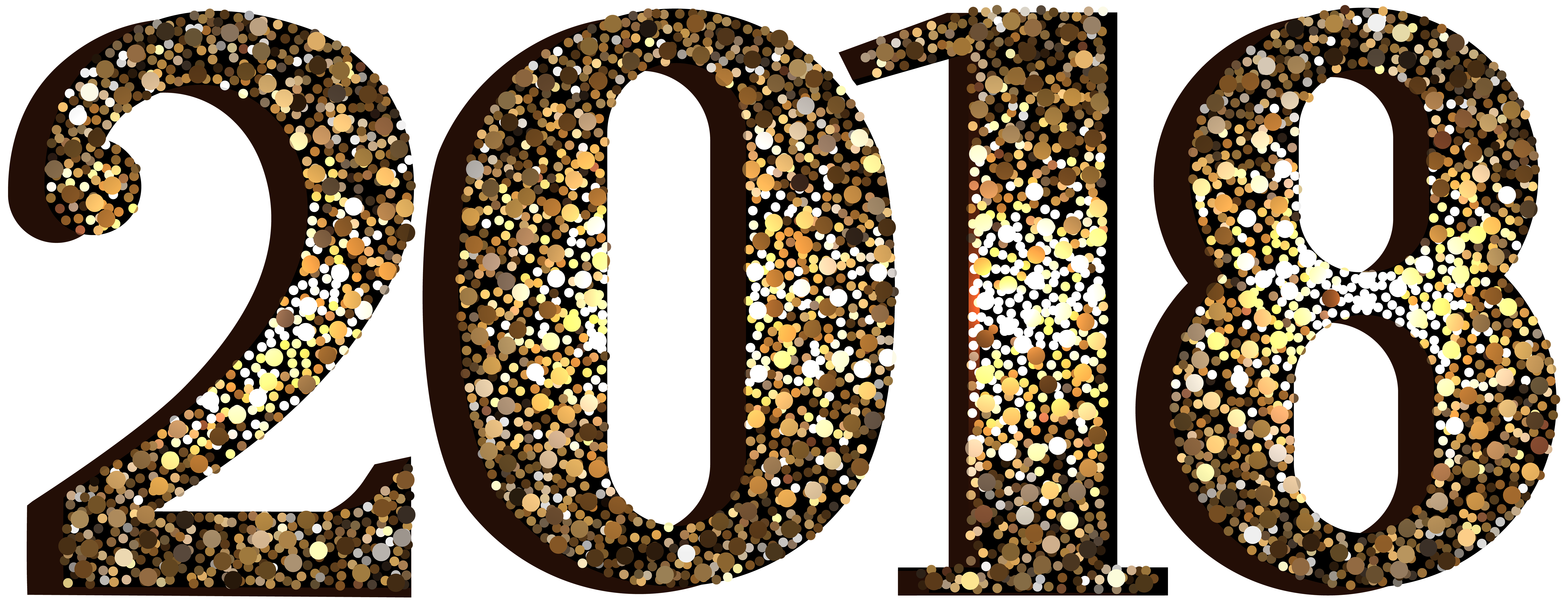 2018 Decorative Transparent Clip Art Image.