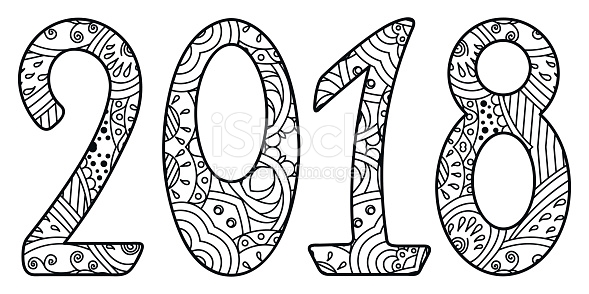 2018 clipart black and white 2 » Clipart Station.