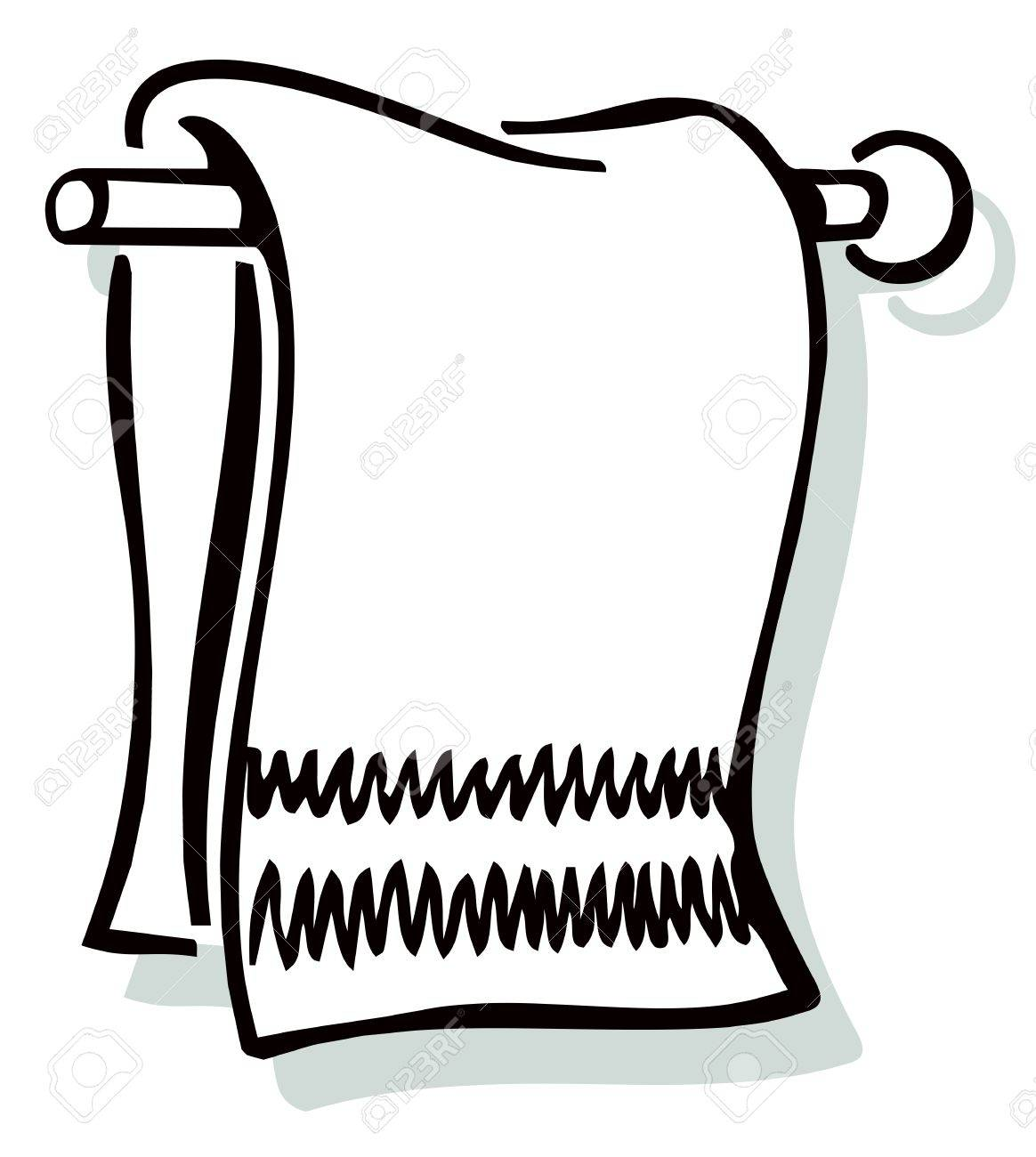 Towel Black And White Clipart.