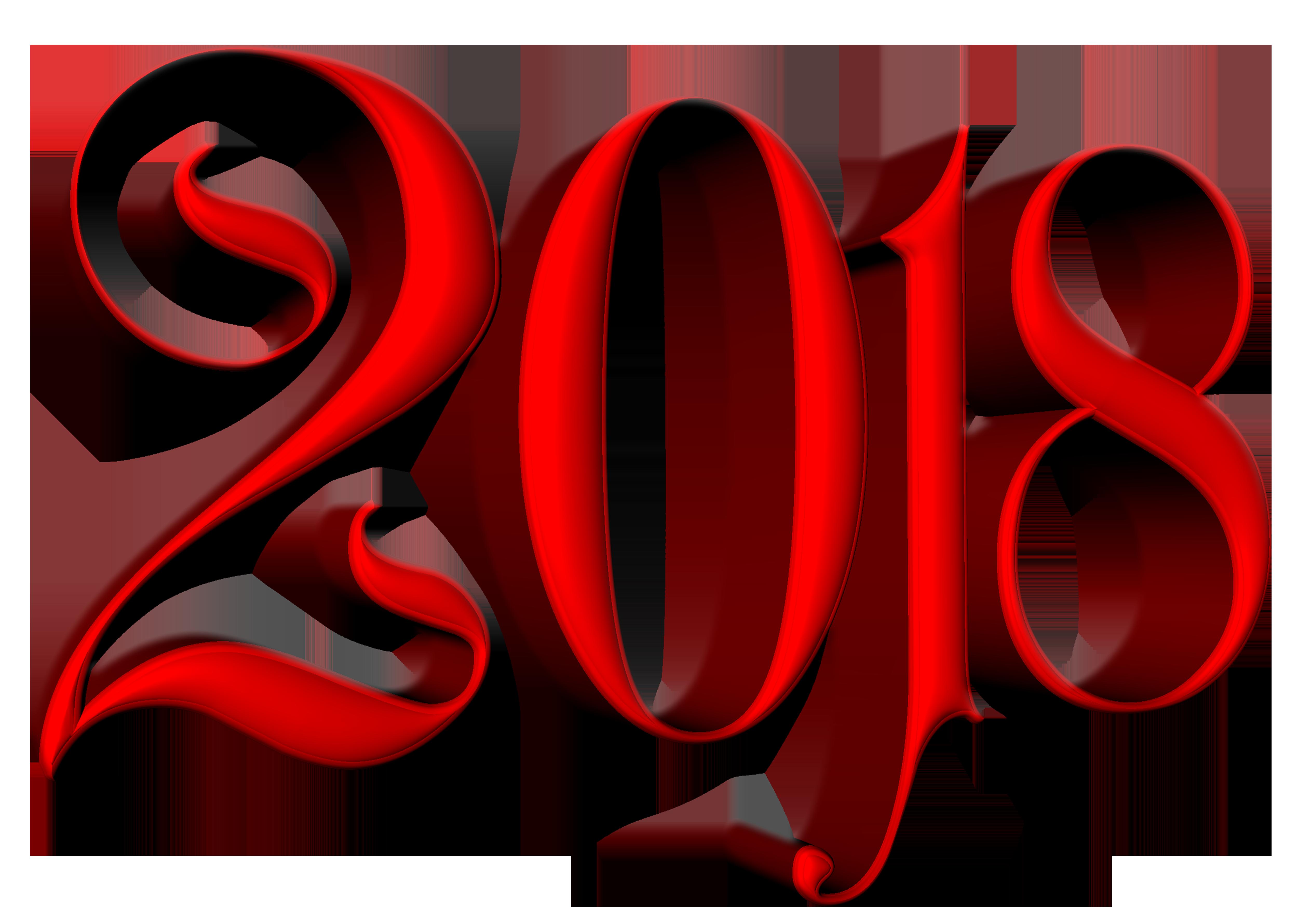 2018 Deco Transparent Clip Art Image.