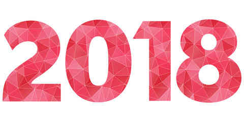 1112 New Year 2018 free clipart.