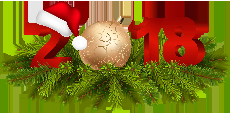2018 Christmas Decoration PNG Clip Art Image.