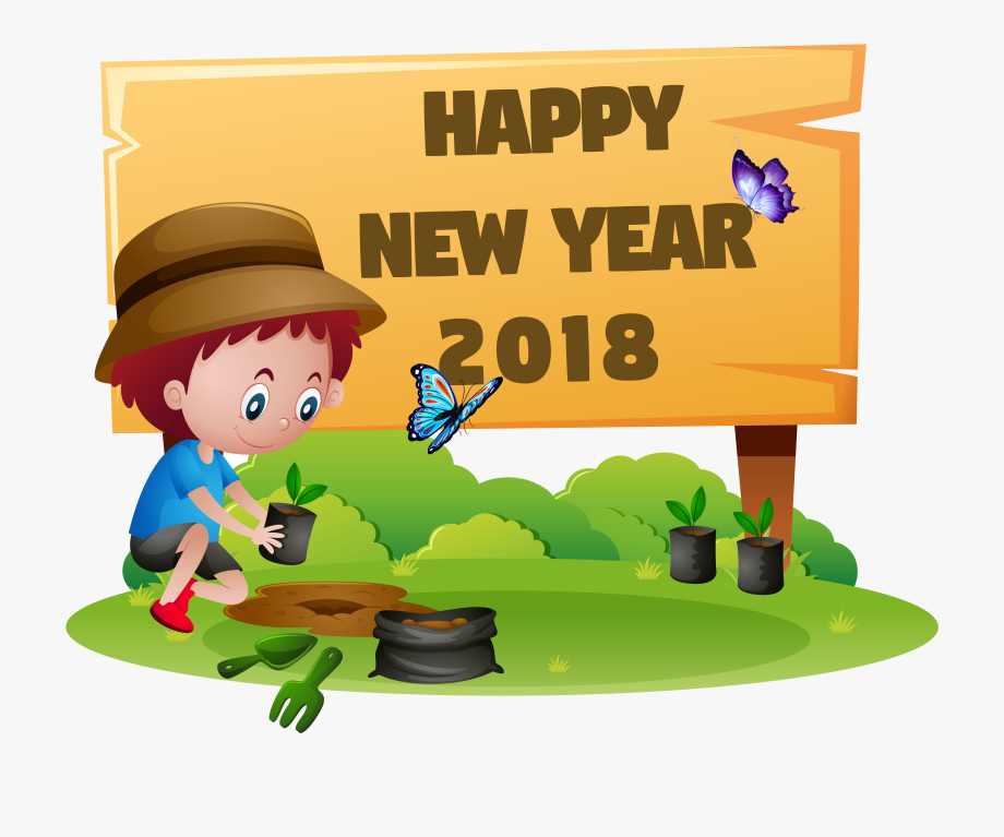 Graphic Freeuse Download 2018 New Year Clipart.