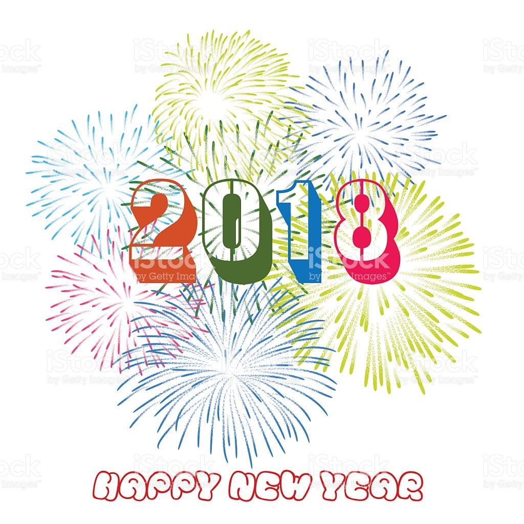 648 Happy New Year 2018 free clipart.