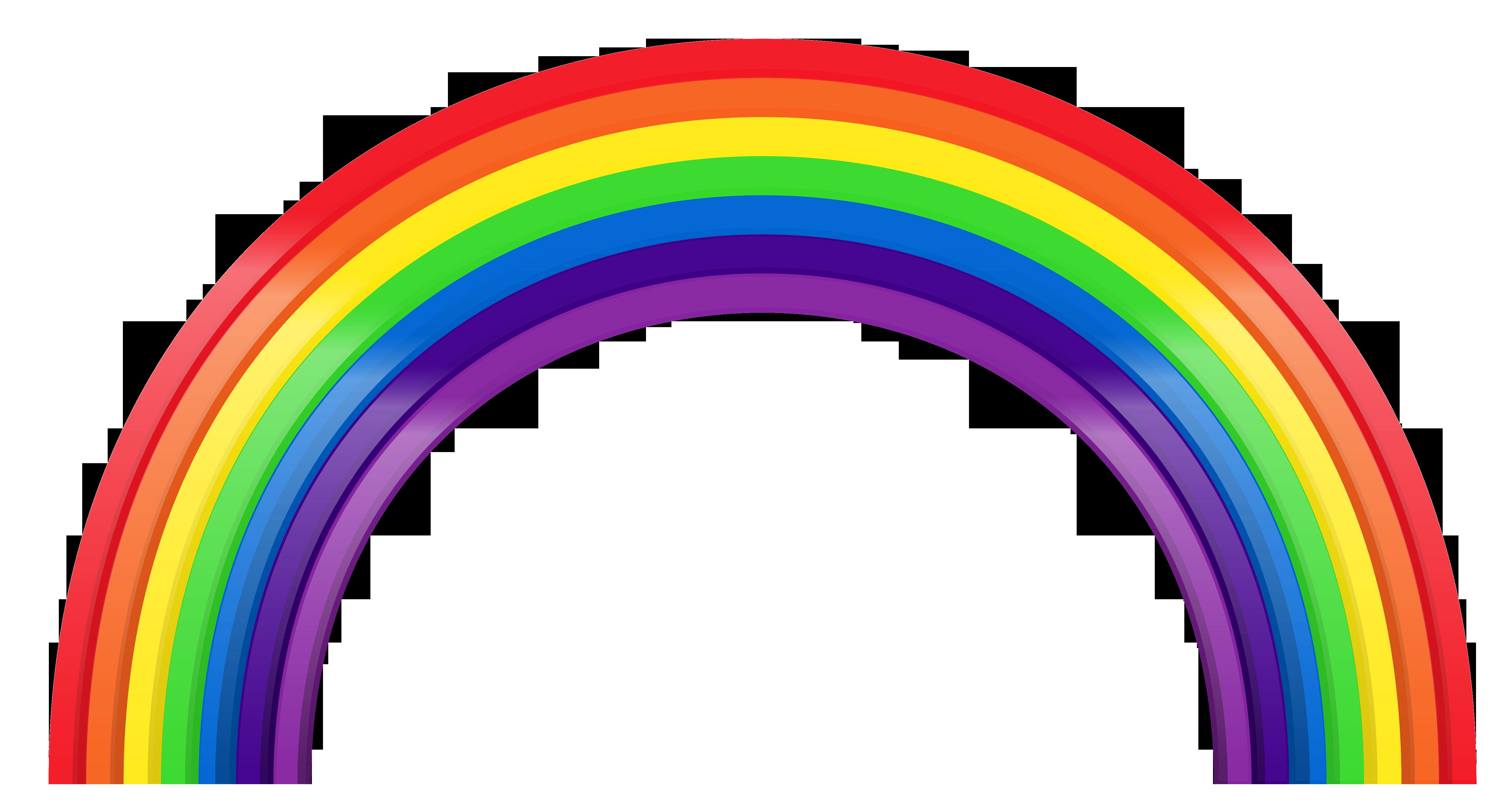 Rainbow clipart transparent 2 » Clipart Station.
