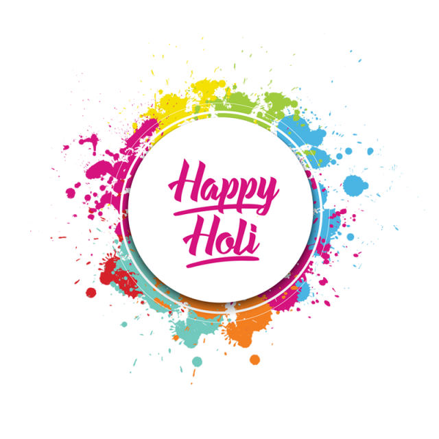 Happy Holi Colorful Splatter Color Splash, Happy Holi, Holi.
