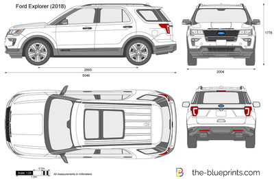 Ford Explorer vector drawing.
