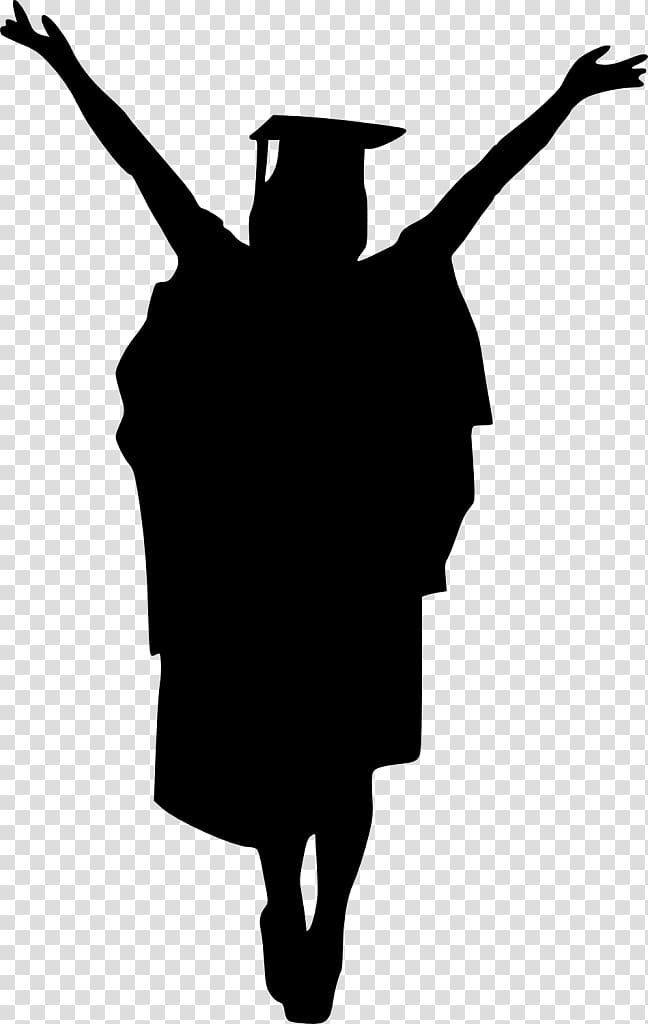 Graduation ceremony Silhouette Drawing , Silhouette.
