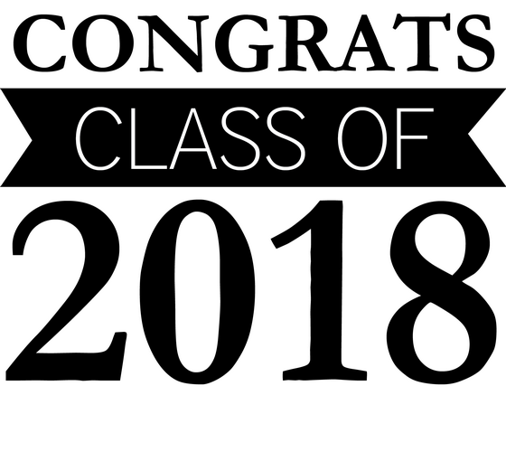 Congrats Class of 2018 Graduation Clip Art.