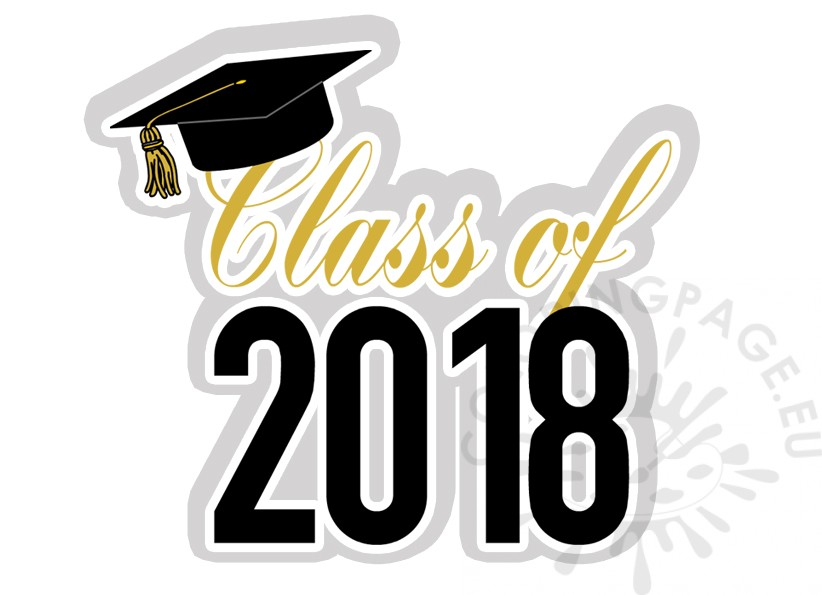 Graduation Class of 2018 clipart.
