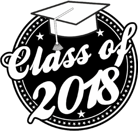 Download Class Of 2018 Graduation Window Cling.