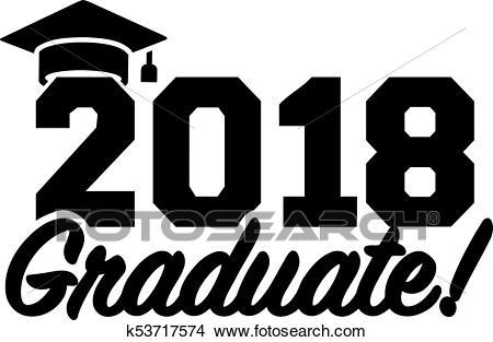 2018 graduate graduation Clipart.