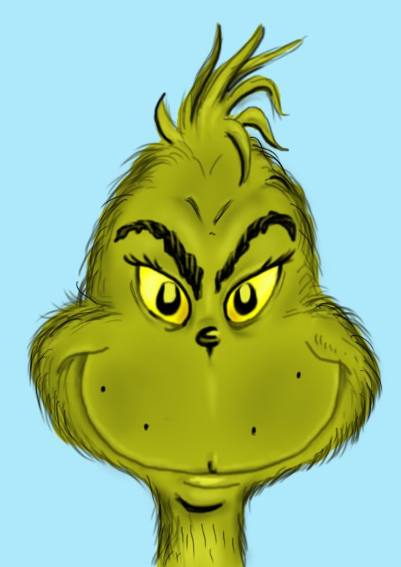 The Grinch Face.