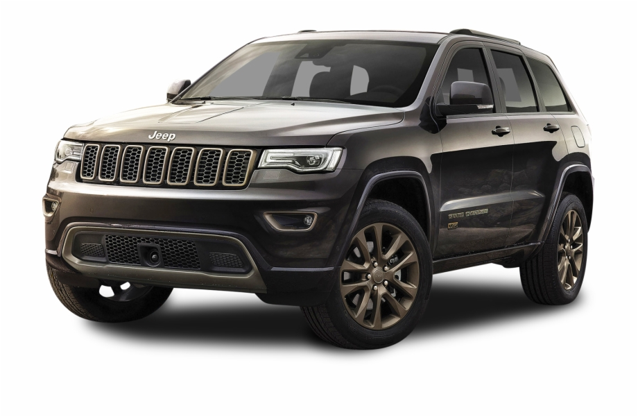 Black Jeep Grand Cherokee Car Png Image.