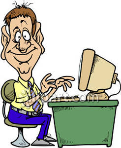 Man with computer clipart 2 » Clipart Station.