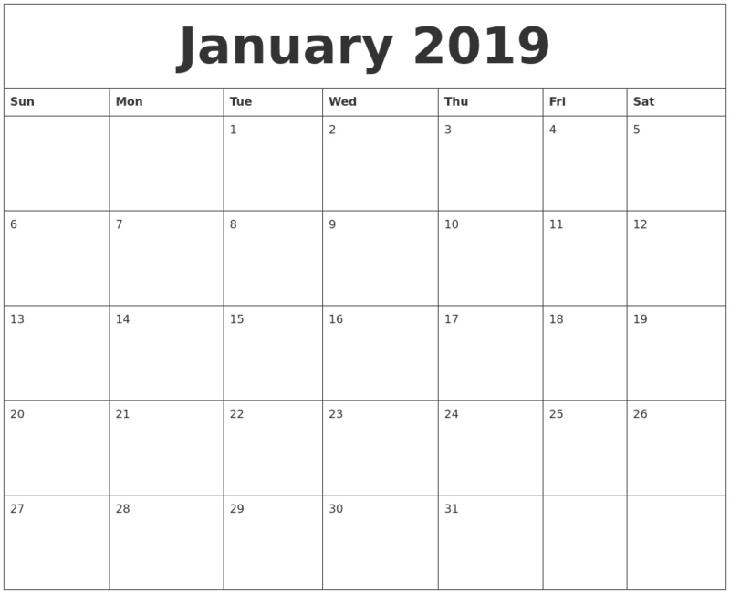 2019 Calendar Png Transparent Image.